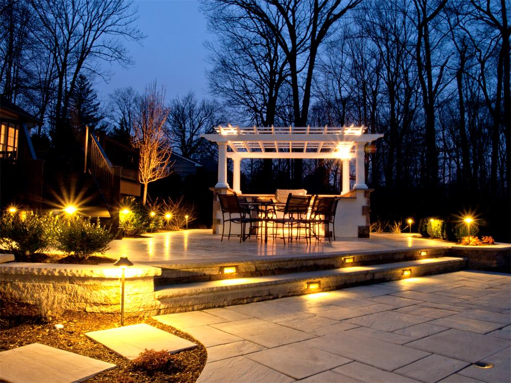 Landscape lighting rustic view home garden center