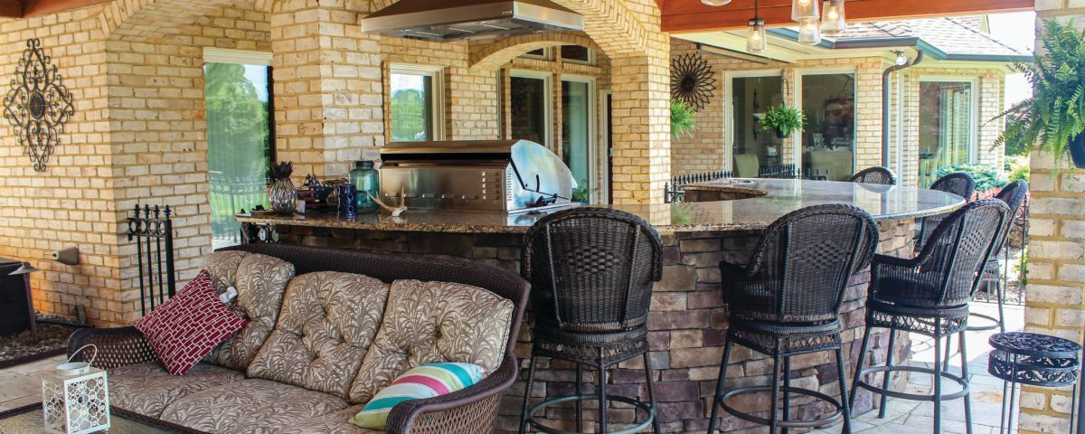 Hardscaping for the summer outdoor kitchen